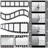 Conjunto del vector de la película Foto de archivo libre de regalías