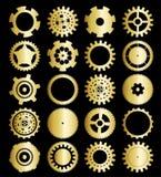Conjunto del vector de las ruedas de engranaje Imágenes de archivo libres de regalías