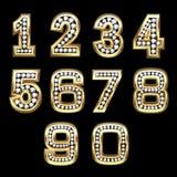 Conjunto del vector de los números de Bling Imagenes de archivo