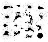Conjunto del vector de manchas blancas /negras oscuras Fotografía de archivo libre de regalías