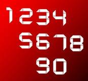 Conjunto del vector de números del origami Imagen de archivo libre de regalías