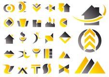 Conjunto del vector de símbolos del diseño Imagen de archivo