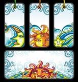 Conjunto del vector de símbolos celestiales Imagen de archivo libre de regalías