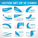 Conjunto del vector de tarjetas de visita Imagen de archivo
