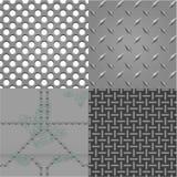 Conjunto del vector de texturas del metal Imagenes de archivo