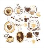 Conjunto del vector del café Foto de archivo libre de regalías
