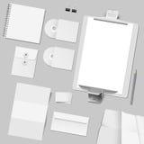 Conjunto del vector del diseño corporativo del modelo Fotografía de archivo