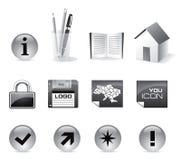 Conjunto del vector del icono del Web Fotos de archivo libres de regalías
