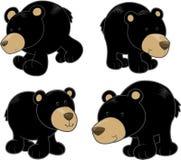 Conjunto del vector del oso negro Fotos de archivo
