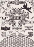 Conjunto del vector. Elementos del diseño de la tarjeta del día de San Valentín. Imagenes de archivo