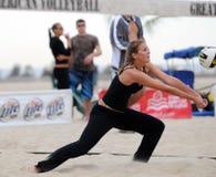 Conjunto del voleibol de la playa Fotos de archivo