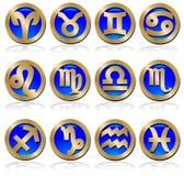 Conjunto del zodiaco Fotos de archivo