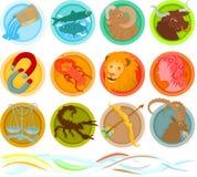 Conjunto del zodiaco Fotografía de archivo libre de regalías