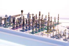 Conjunto dental de la implantación fotos de archivo