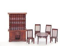 Conjunto dinning del sitio de los muebles de la casa de muñeca Foto de archivo