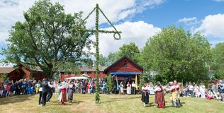 Conjunto do folclore de Sweden Imagem de Stock Royalty Free