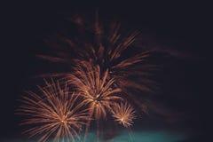 Conjunto dos fogos-de-artifício Fotografia de Stock Royalty Free