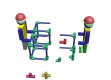 Conjunto dos trabalhadores da construção 3D Fotos de Stock