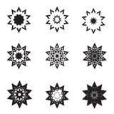Conjunto e insignias abstractos del icono de la estrella Fotos de archivo libres de regalías
