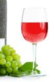 Conjunto e vinho verdes da uva Imagem de Stock