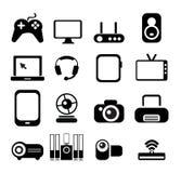 Conjunto electrónico del icono ilustración del vector