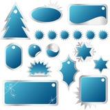Conjunto elegante de etiquetas rojas de las ventas del invierno Fotografía de archivo libre de regalías