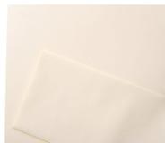 Conjunto en blanco del sobre de lino del papel con membrete Imagenes de archivo