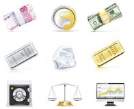 Conjunto en línea del icono de las actividades bancarias del vector. Parte 5 Imagen de archivo