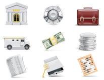 Conjunto en línea del icono de las actividades bancarias del vector. Parte 3 Imagenes de archivo