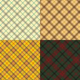 Conjunto escocés del tartán Imagen de archivo