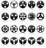 Conjunto estéreo analogico del icono de las bobinas, vector libre illustration