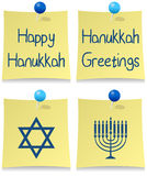 Conjunto feliz del post-it de Hanukkah libre illustration