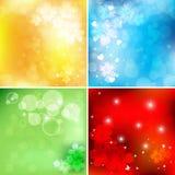 Conjunto floral brillante del vector Fotos de archivo libres de regalías