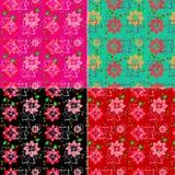 Conjunto floral del fondo Imagenes de archivo