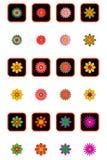 Conjunto floral del icono Imagen de archivo libre de regalías