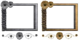 Conjunto floral del marco Fotos de archivo libres de regalías