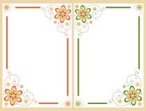 Conjunto floral del marco de la frontera Fotos de archivo libres de regalías