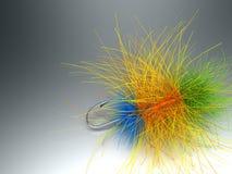 Conjunto Fly-Fishing Foto de archivo libre de regalías