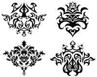 Conjunto gótico del emblema Fotografía de archivo libre de regalías