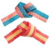 Conjunto gomoso multicolor de la venda del caramelo (regaliz) fotografía de archivo libre de regalías