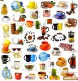 Conjunto grande de bebidas Imagen de archivo libre de regalías