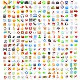 Conjunto grande de iconos del ordenador Fotografía de archivo