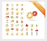 Conjunto grande de iconos: La PARTE 2 - vea las partes 1 y 3 imagen de archivo libre de regalías