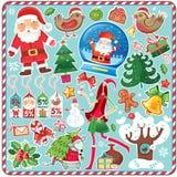 Conjunto grande de la Navidad Fotografía de archivo libre de regalías