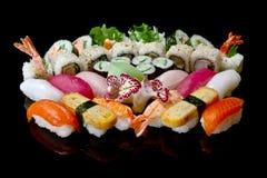 Conjunto grande del sushi Fotografía de archivo libre de regalías