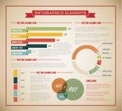 Conjunto grande del vector de los elementos de Infographic Fotografía de archivo