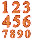 Conjunto hecho punto del número Fotografía de archivo