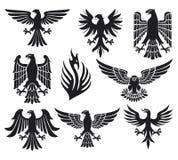 Conjunto heráldico del águila ilustración del vector