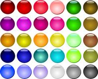 Conjunto hermoso colorido del botón Imagen de archivo libre de regalías