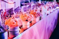 Conjunto hermoso del vector de la boda Concepto de la recepción nupcial Fotos de archivo libres de regalías